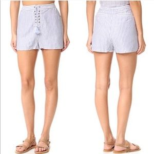 TJD • haven shorts in striped chambray